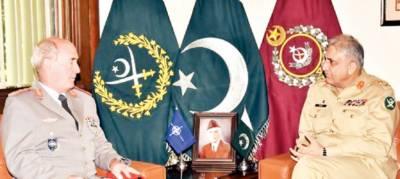 افغانستان میں امن کیلئے تعاون کرینگے، آرمی چیف: چیلنجز سے متعلق مشترکہ اقدامات کرنا ہونگے، ڈی جی نیٹو ملٹری سٹاف