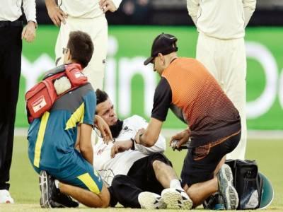 علیم ڈار پرتھ ٹیسٹ میںکیوی فیلڈر کی تھرولگنے سے زخمی