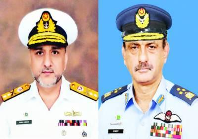 احمر شہزاد لغاری نائب سربراہ پاک فضائیہ، فیصل عباسی کی ریئر ایڈمرل کے عہدہ پر ترقی