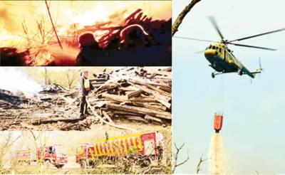 وزیر آباد: ریلوے کے سب سے بڑے ڈپو میں آتشزدگی' کروڑوں کی لکڑی راکھ