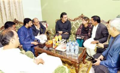 بلاول کی فخر الدین جی ابراہیم کے گھر جاکر تعزیت، صدر پیپلز یوتھ کی عیادت
