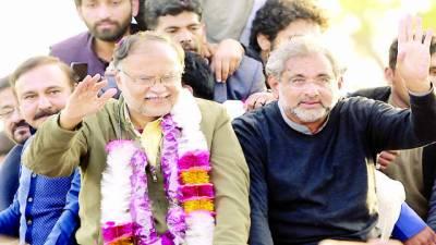 شاہد خاقان، احسن اقبال اڈیالہ جیل سے رہا، کارکنوں کا استقبال