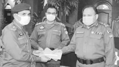 28 پولیس اہلکاروں میںامدادی چیک تقسیم