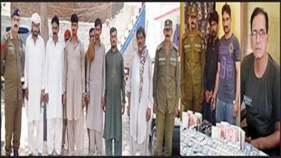 پولیس کا چھاپہ، آٹھ جواریوں سمیت دس ملزمان گرفتار