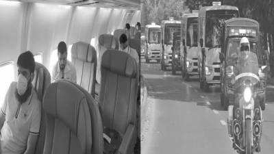 پاکستان کرکٹ ٹیم خصوصی طیارے پر دورہ انگلینڈ کیلئے روانہ