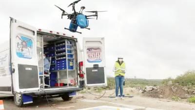 فیس ماسک' دستانے اور حفاظتی لباس کی ''ڈرون سروس'' کے ذریعے ترسیل