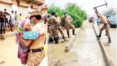 کراچی: پھر بارش ، مزید تباہی، 600فیدڑ ٹرپ، پاک فوج کی امدادی سرگرمیاں