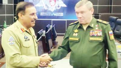 جنرل ندیم رضا کی روسی چیف آف جنرل سٹاف سے ملاقات فوجی تعاون پر مذاکرات