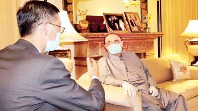 آصف علی زرداری سے چین کے سفیر کی ملاقات، خیریت دریافت کی
