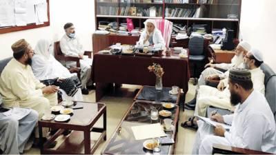 عالمی رابطہ اسلامی کا مولانا فضل الرحیم اشرفی کی زیرصدارت اجلاس
