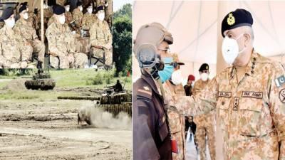 آرمی چیف کا دورہ گوجرانوالہ ، سنٹرل کمانڈ ، فارمیشنز کی آپریشنل تیاریوں پر بریفنگ