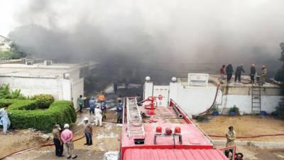 سائٹ ایریا : فیکٹری میں خوفناک آتشزدگی