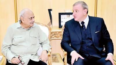 وفاقی وزیر داخلہ اعجاز شاہ کی اٹلی اور مصر کے سفراء سے ملاقات