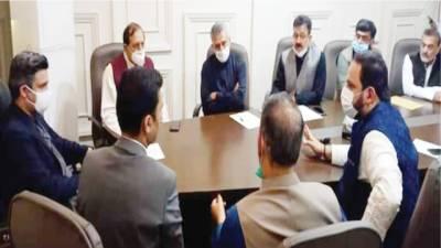 حماد اظہرسے تاجروں اور مارکی اینڈ بینکوئٹ ایسوسی ایشن کے وفود کی ملاقات
