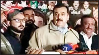 ضلعی انتظامیہ جلسے کی تیاریوں میں رکاوٹ ڈال رہی ہے: یوسف رضا