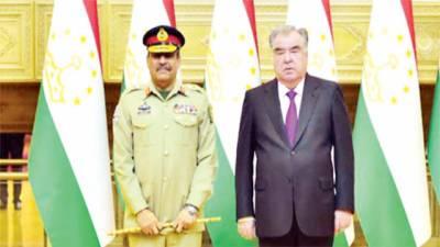 جنرل ندیم رضا کا دورہ تاجکستان، صدر امام علی سے ملاقات ، انسداد دہشتگردی ، سکیورٹی تعاون بڑھانے پر گفتگو