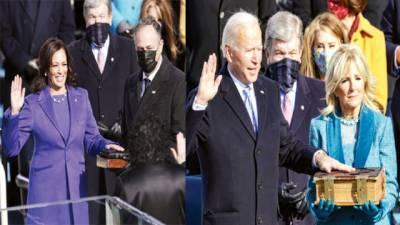 اتحادیوں سے دوریاں ختم کریں گے، جوبائیڈن ، امریکی صدر کا حلف اٹھا لیا: ملکر کام کرنے کے منتظر ، عمران کی مبارکباد