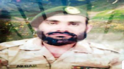 شہید ایف سی حوالدار محمد اکبر کی موسیٰ خیل میں فوجی اعزاز کے ساتھ تدفین