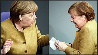 جرمن چانسلر کی ماسک پہننا بھولنے کی ویڈیو وائرل