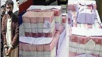 گڈز ٹرین سے کرنسی چرانے والے 2ملزم گرفتار، 49لاکھ سے زائد رقم برآمد