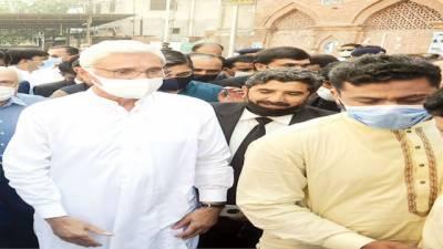 جہانگیر ترین کی پیشی، عدالت کے باہر سے مسلح شخص گرفتار