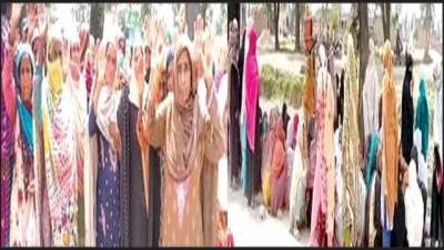 شجاع آباد: احساس کفالت سنٹر میںخواتین پر لاٹھی چارج'متاثرین کا احتجاجی مظاہرہ