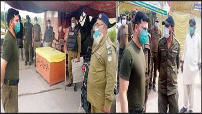 ایس پی کینٹ کا دورہ ممتاز آباد گول پلاٹ رمضان بازار' سکیورٹی انتظامات کا جائزہ