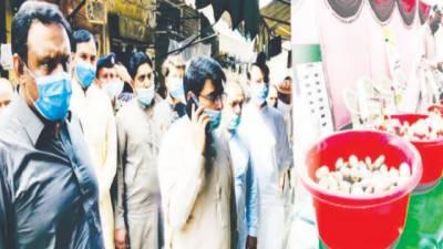 اسسٹنٹ کمشنر فیروزوالہ کا دورہ رمضان بازار ' قیمتوں کا جائزہ
