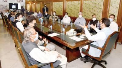 حمزہ شہباز کی زیرصدارت اجلاس' پنجاب اسمبلی میں حکومت کو ٹف ٹائم دینے کا فیصلہ کیا گیا
