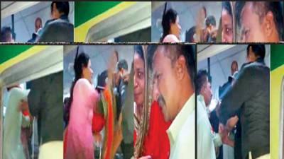شوہر سے شراب برآمد ہونے پر لیڈی کانسٹیبل کی ر یلوے پولیس پر تھپڑوں کی بارش