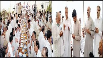 ٹبہ سلطان پور : احمد یار خان منیس کی قل خوانی میں سینکڑوں افراد کی شرکت صاحبزادے فہد خان منیس کی دستار بندی